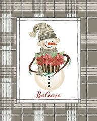 CIN2576 - Believe Snowman - 12x16