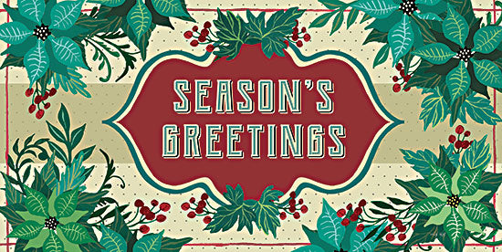 Cindy Jacobs CIN2591 - CIN2591 - Nostalgic Season's Greetings - 18x9 Season's Greetings, Christmas, Holidays, Flowers, Berries, Sign from Penny Lane