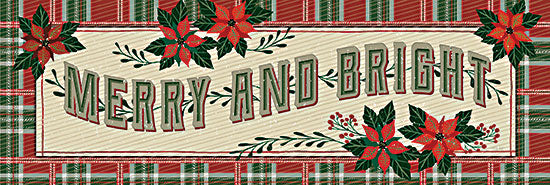 Cindy Jacobs CIN2593A - CIN2593A - Nostalgic Merry & Bright - 36x12 Merry & Bright, Nostalgic, Old Fashioned, Poinsettias, Flowers, Christmas, Signs from Penny Lane
