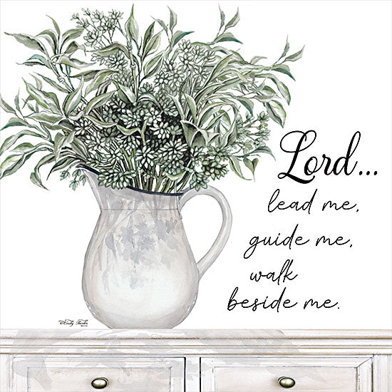 Cindy Jacobs CIN2639 - CIN2639 - Lord Lead Me - 12x12 Lord Lead Me, Pitcher, Greenery, Religion, Motivational, Shabby Chic, Signs from Penny Lane