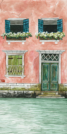 Cindy Jacobs CIN2645 - CIN2645 - Grand Canal I - 9x18 Grand Canal, Pink House, China, River from Penny Lane