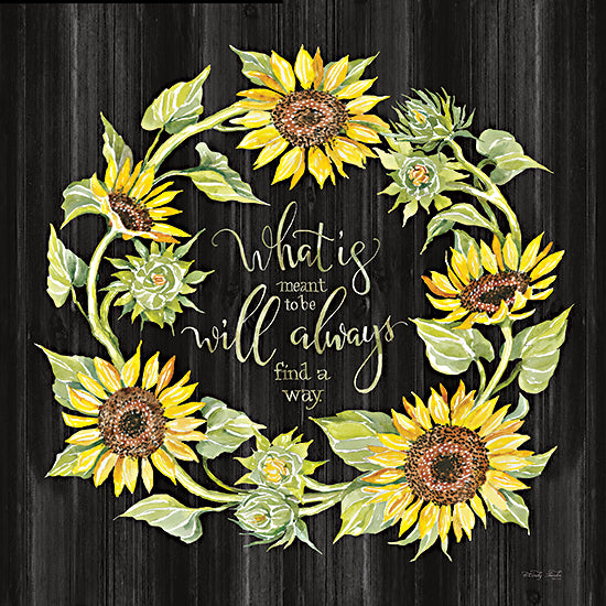 Cindy Jacobs CIN2694 - CIN2694 - What's Meant to Be Wreath - 12x12 What's Meant to Be, Wreath, Sunflowers, Autumn, Signs from Penny Lane