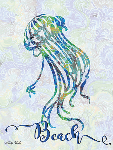 Cindy Jacobs CIN271 - Beach - Jellyfish - Jellyfish, Coastal, Sign, Aquatic Animals from Penny Lane Publishing
