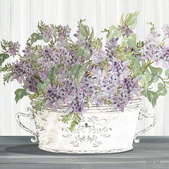 CIN2813 - Lilac Galvanized Pot - 12x12