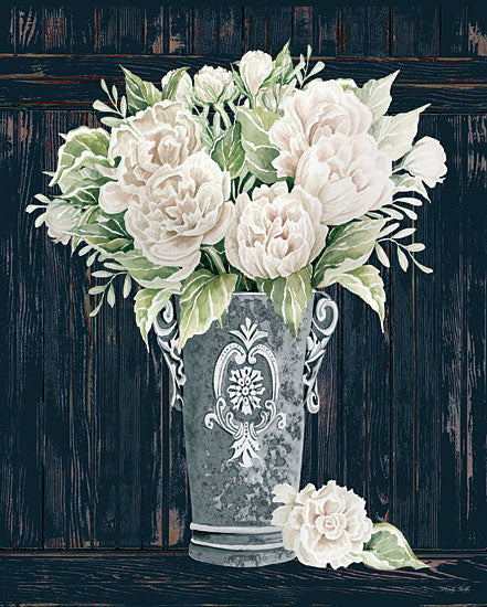 Cindy Jacobs CIN2975 - CIN2975 - Perfect Peonies - 12x16 Peonies, Flowers, Pink Flowers, Galvanized Vase, Shabby Chic, Bouquet, Botanical from Penny Lane