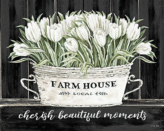 Cindy Jacobs CIN2977 - CIN2977 - Cherish Beautiful Moments - 16x12 Cherish Beautiful Moments, Tulips, Flowers, White Flowers, Farmhouse Tub, Signs from Penny Lane