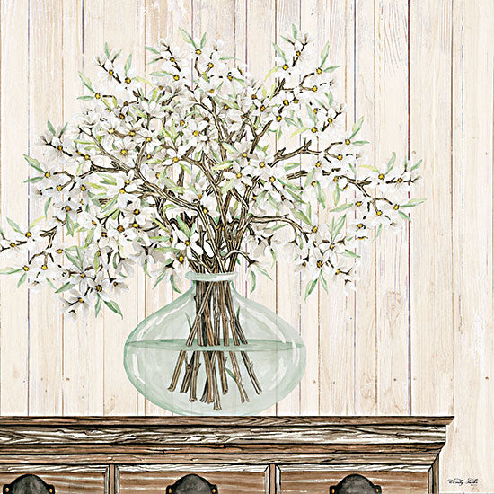 Cindy Jacobs CIN2985 - CIN2985 - Apple Blossoms - 12x12 Apple Blossoms, Bouquet, Botanical, Glass Vase from Penny Lane