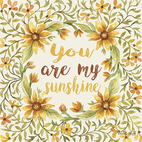 Cindy Jacobs CIN312A - You Are My Sunshine - Wreath, Leaves, Inspirational, Sign, Floral from Penny Lane Publishing
