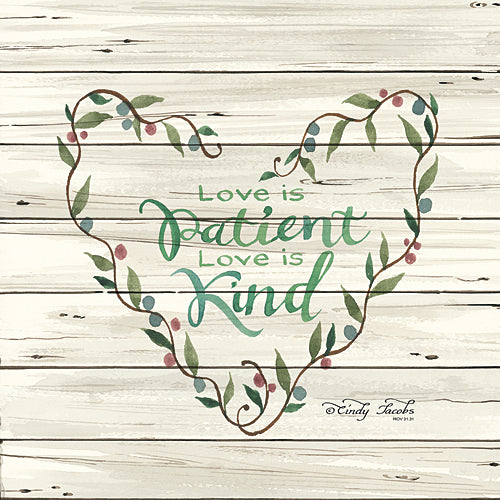Cindy Jacobs CIN338 - Love is Patient Heart Wreath - Inspirational, Religious, Wreath from Penny Lane Publishing