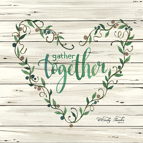 Cindy Jacobs CIN339 - Gather Together Heart Wreath - Inspirational, Religious, Wreath from Penny Lane Publishing