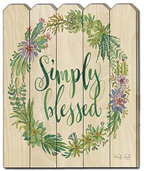 CIN422PF - Simply Blessed Succulent Wreath