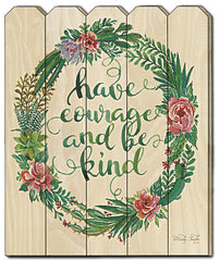 CIN424PF - Have Courage Succulent Wreath