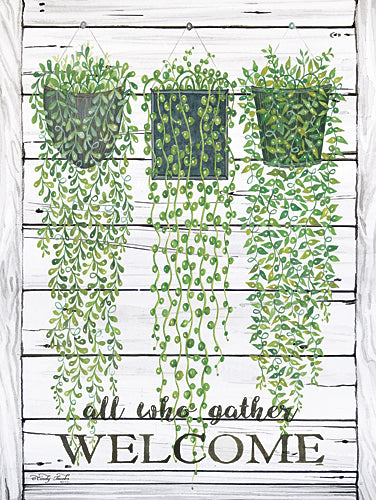 Cindy Jacobs CIN542 - Ivy Welcome All Who Gather - Inspirational, Ivy, Basket, Hanging Plants from Penny Lane Publishing