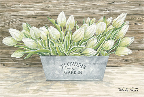 Cindy Jacobs CIN611B - Flowers & Garden Tulips - Tulips, Bucket, Garden from Penny Lane Publishing