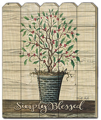 CIN618PF - Simply Blessed Holly Tree