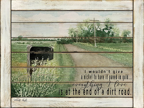 Cindy Jacobs CIN664 - The End of a Dirt Road - Road, Mailbox, Inspirational, Landscape from Penny Lane Publishing