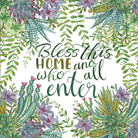 Cindy Jacobs CIN671 - Bless This Home Succulents - Signs, Succulents, Home from Penny Lane Publishing