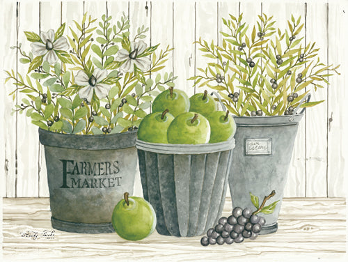 Cindy Jacobs CIN697 - Eucalyptus Farmer's Market - Galvanized Buckets, Pears, Eucalyptus from Penny Lane Publishing