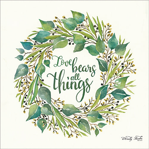Cindy Jacobs CIN701 - Love Bears All Things Eucalyptus Wreath - Eucalyptus, Wreath, Love from Penny Lane Publishing