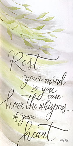 Cindy Jacobs CIN737 - Rest Your Mind - Leaves, Calligraphy, Inspirational from Penny Lane Publishing