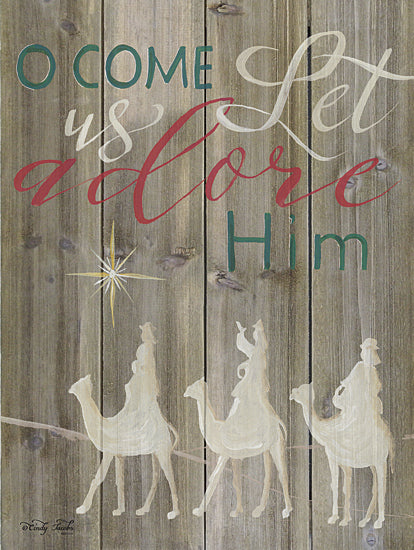 Cindy Jacobs CIN741 - O Come Let Us Adore Him - Holiday, Nativity, Kings, Calligraphy from Penny Lane Publishing