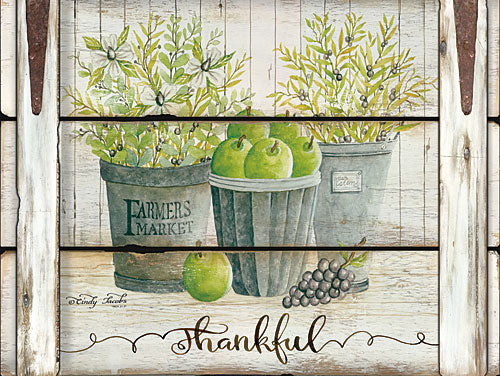 Cindy Jacobs CIN747 - Eucalyptus - Thankful - Wood, Eucalyptus, Fruit, Buckets, Sentiment from Penny Lane Publishing