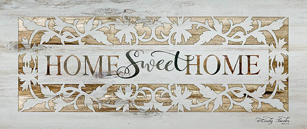 Cindy Jacobs CIN748 - Home Sweet Home - Typography, Home, Gold, Scrolls from Penny Lane Publishing