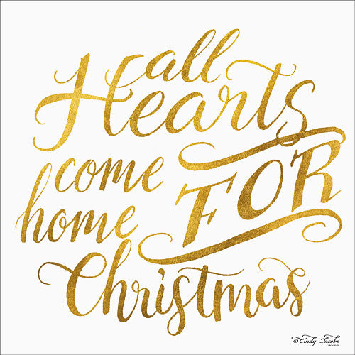 Cindy Jacobs CIN758 - Come Home for Christmas  - Holiday, Gold, Signs, Inspirational, Hearts from Penny Lane Publishing