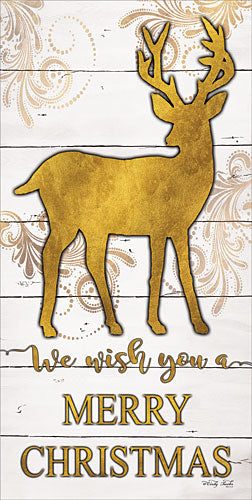 Cindy Jacobs CIN763 - Reindeer Merry Christmas - Gold, Reindeer, Holiday, Signs from Penny Lane Publishing