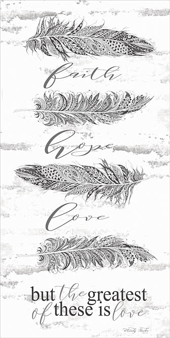Cindy Jacobs CIN802 - The Greatest is Love - Feather, Religious, Inspirational, Signs from Penny Lane Publishing