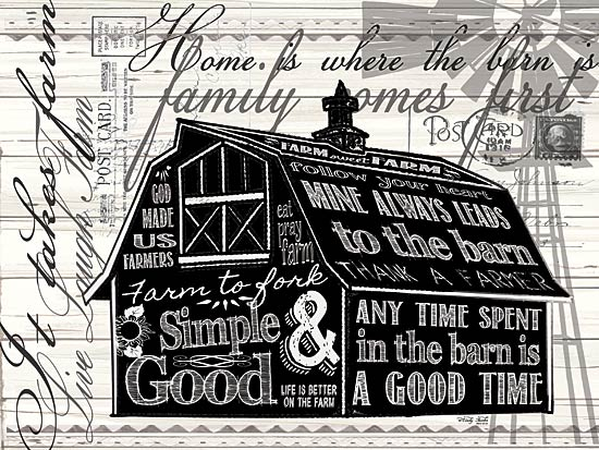 Cindy Jacobs CIN811 - Simple & Good Barn - Typography, Words, Signs, Barn from Penny Lane Publishing
