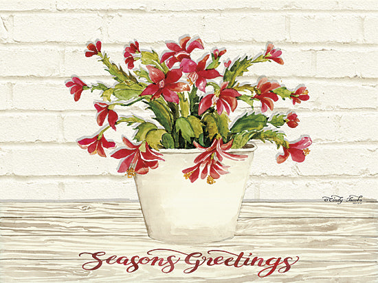 Cindy Jacobs CIN818 - Christmas Cactus - Season's Greetings - Holiday, Greetings, Cactus, Blooms from Penny Lane Publishing