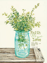 CIN820 - Faith, Hope, Love and Eucalyptus - 12x16