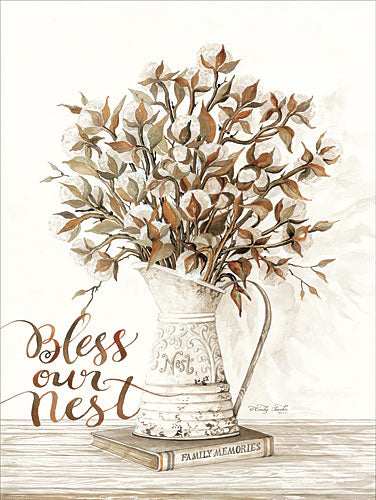 Cindy Jacobs CIN827 - Bless Our Nest Cotton Bouquet - Pitcher, Books, Cotton, Bless from Penny Lane Publishing