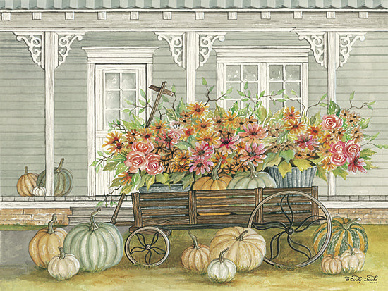 Cindy Jacobs CIN830 - Fall Wagon - Wagon, Autumn, House, Porch, Pumpkins from Penny Lane Publishing