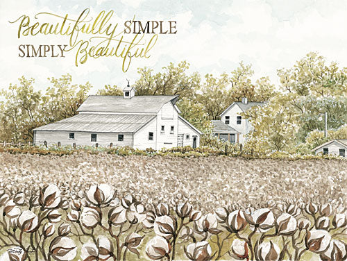 Cindy Jacobs CIN838 - Beautifully Simple Cotton Farm - Cotton, Field, House, Simple, Beautiful from Penny Lane Publishing