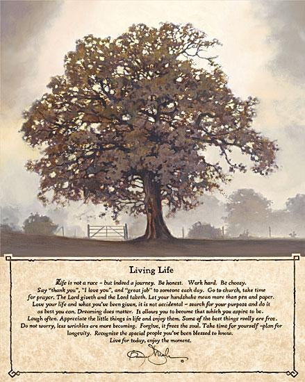 Bonnie Mohr COW128 - Living Life - Tree, Inspirational, Quote from Penny Lane Publishing
