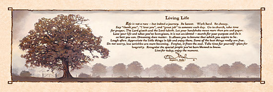 Bonnie Mohr COW215C - Living Life - Tree, Inspiring, Signs, Calligraphy from Penny Lane Publishing