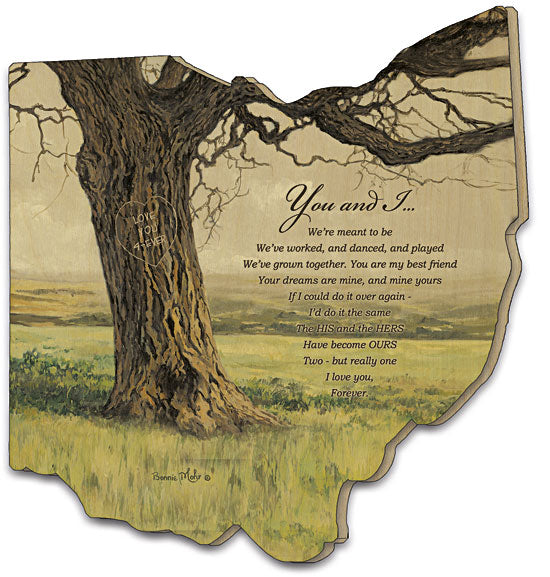Bonnie Mohr COW217OH - Forever - Tree, You and I, Verse, Calligraphy, Typography, Landscape, Love, Wedding, Relationship, Wood Cutout,  from Penny Lane Publishing