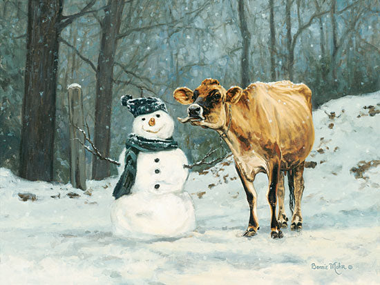 Bonnie Mohr COW251 - Well Hello There - Cow, Snowman, Winter, Snow from Penny Lane Publishing