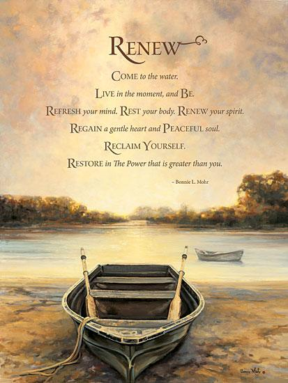 Bonnie Mohr COW253 - Renew  - Rowboat, Inspirational, Landscape, Lake from Penny Lane Publishing