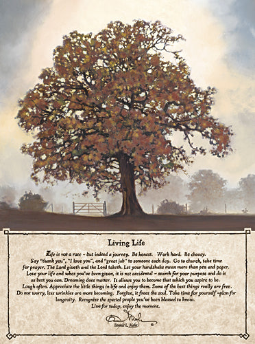 Bonnie Mohr COW283 - Fall Living Life - Tree, Poem, Landscape, Inspirational, Sign from Penny Lane Publishing