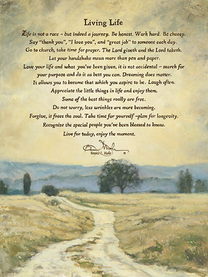 Bonnie Mohr COW300 - Living Life - Inspirational, Path, Landscape from Penny Lane Publishing