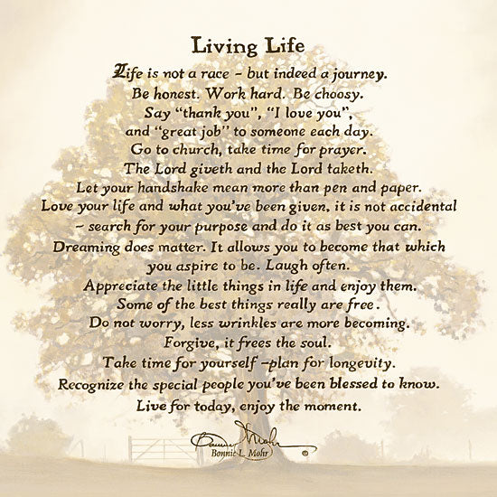 Bonnie Mohr COW302 - Living Life - Inspirational, Landscape, Tree from Penny Lane Publishing