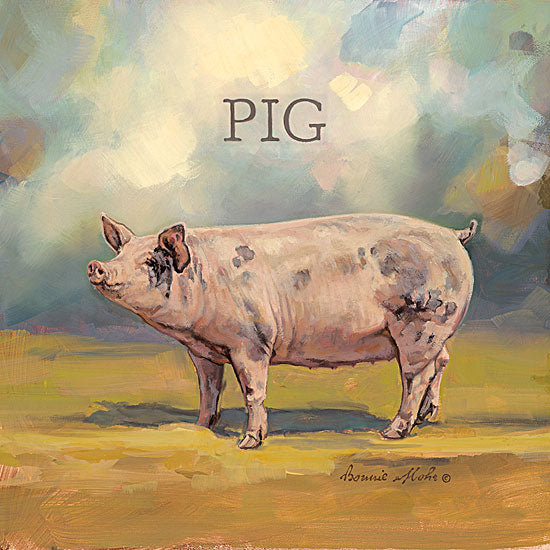 Bonnie Mohr COW308 - Piper the Pig - Pig, Signs from Penny Lane Publishing