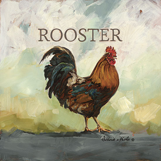 Bonnie Mohr COW309 - Raleigh the Rooster - Rooster, Signs from Penny Lane Publishing