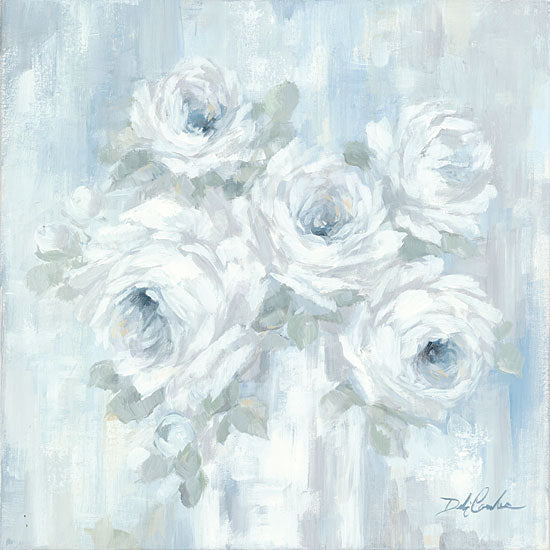 Debi Coules DC112 - DC112 - White Roses - 12x12 White Roses, Flowers, Modern from Penny Lane