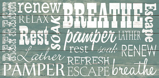 Dee Dee DD1461 - Bathroom Typography - Refresh, Bubbles, Bath from Penny Lane Publishing