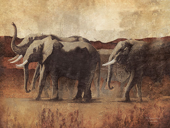 Dee Dee DD1466 - The Elephant March - Elephant, Landscape from Penny Lane Publishing