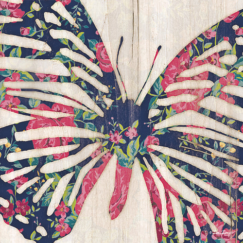 Dee Dee DD1511A - Floral Butterfly - Wood Planks, Butterfly, Animals, Floral from Penny Lane Publishing